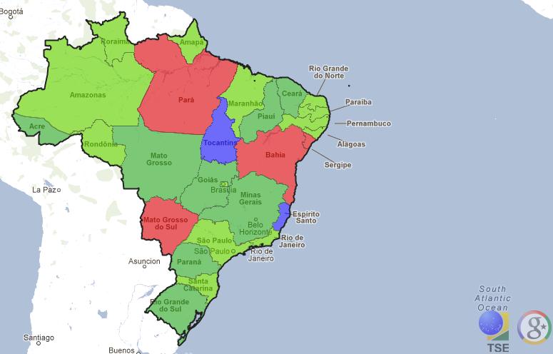 Resultados das eleições em tempo real em todos estados brasileiros (Foto: Divulgação)