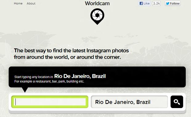 Worldcam encontra fotos de redes sociais no mundo (Foto: Reprodução)
