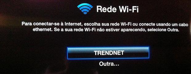Selecionando uma rede Wi-Fi para conectar (Foto: Reprodução/Edivaldo Brito)