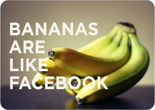 Bananas são como Facebook, é uma das imagens do meme (Foto: Reprodução/Mashable)