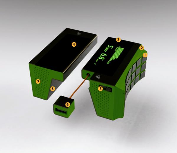 Este conceito de carregador utilizaria a energia térmica de panelas e aquecedores (Foto: Reprodução/Ardavan Mirhosseini)