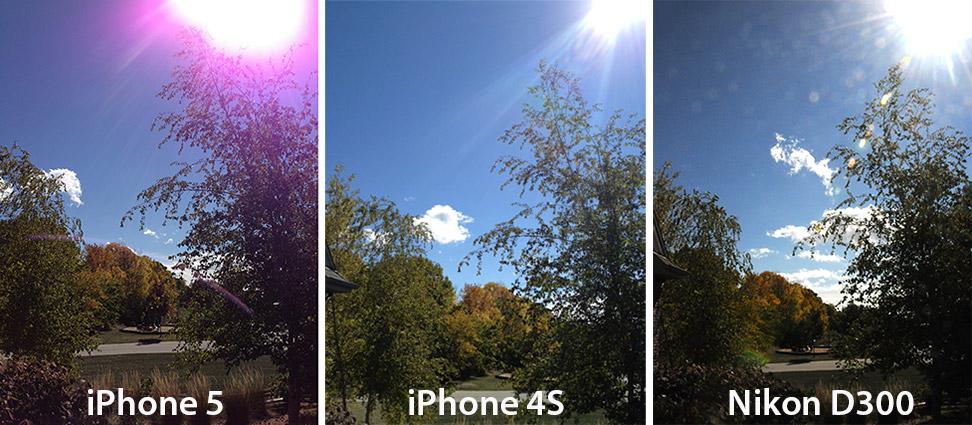 Manchas roxas nas fotos do iPhone 5 (Foto: Reprodução/Mashable)
