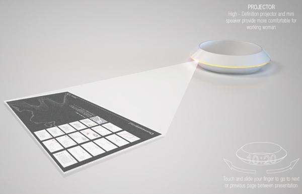Projetor portátil seria ótimo para mulheres (Foto: Reprodução)