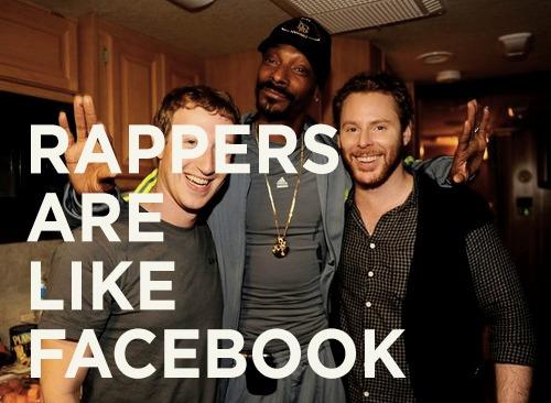 """""""Rappers são como o Facebook"""" (Foto: Reprodução/Mashable)"""