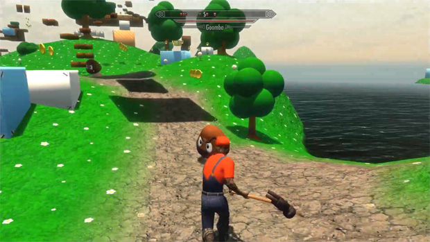 Mod mistura The Elder Scrolls V: Skyrim com o mundo de Super Mario (Foto: Divulgação)