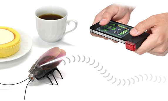 Roachbot, uma barata-robô controlada por um aplicativo mobile (Foto: Reprodução)