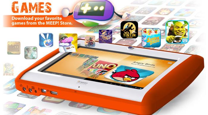 Tablet Meep para criança com controle dos pais (Foto: Reprodução)
