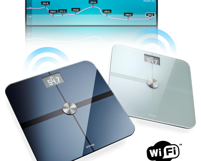 Balança com Wi-Fi e aplicativos para controle dos resultados dos exercícios  (Foto: Reprodução)