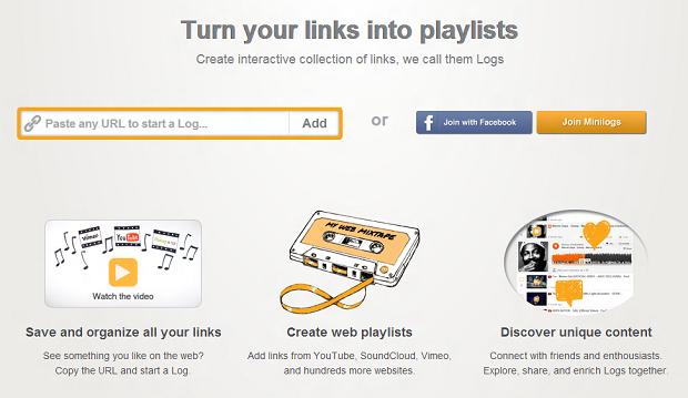Site cria playlists muito interessantes (Foto: Reprodução)