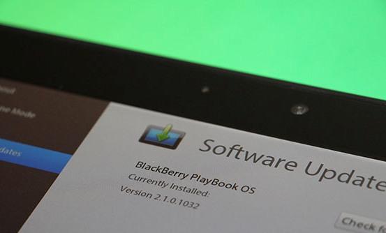 A nova versão 2.1 do BlackBerry OS está disponível somente para modelos Wi-Fi (Foto: Reprodução)