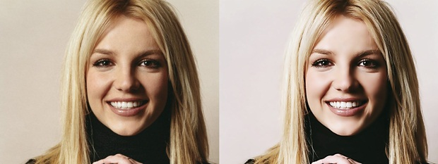 Antes e depois do efeito porcelana aplicado (Foto: Reprodução/Raquel Freire) (Foto: Antes e depois do efeito porcelana aplicado (Foto: Reprodução/Raquel Freire))