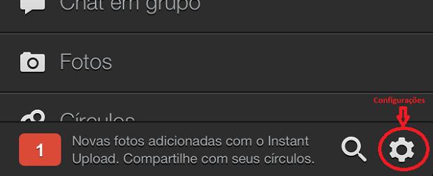 Acessando as configurações da sua rede Google+ (Foto: Reprodução/Edivaldo Brito)