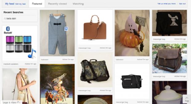Com mudanças no layout, eBay fica parecido com Pinterest (Foto: Reprodução)