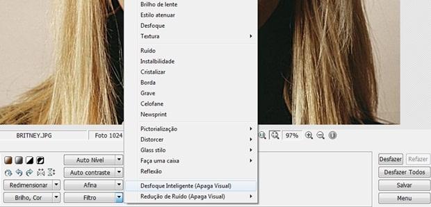 Imagem ficará mais lisa após o filtro (Foto: Reprodução/Raquel Freire)