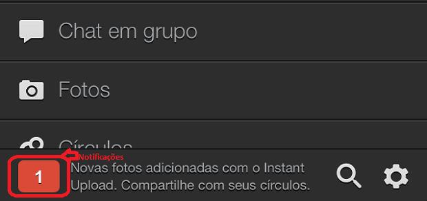 Acessando as notificações no app do Google+ (Foto: Reprodução/Edivaldo Brito)