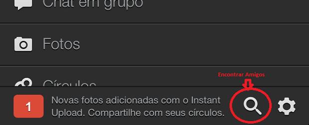 Acessando a opção de adicionas pessoas à sua rede Google+ (Foto: Reprodução/Edivaldo Brito)