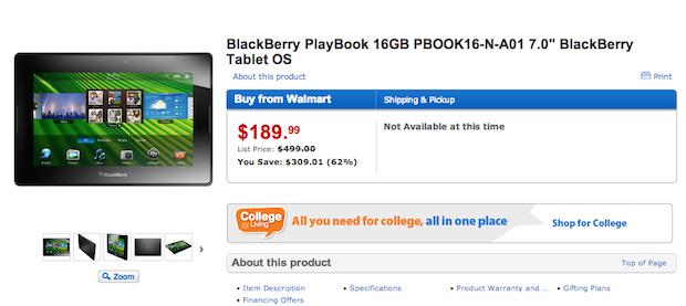 PlayBook sumiu das lojas online dos EUA (Foto: Reprodução)