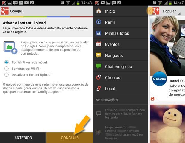 Concluindo cadastro no Google+ no Android (Foto: reprodução / Flávio Renato)