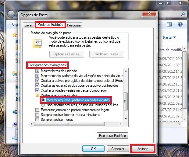 Como 'desocultar' arquivos no Windows 7 Dentro-da-lista-de-configuracoes-avancadas-selecione-a-opcao-mostrar-arquivos-pastas-e-unidades-ocultas-foto-reproducao-julio-monteiro