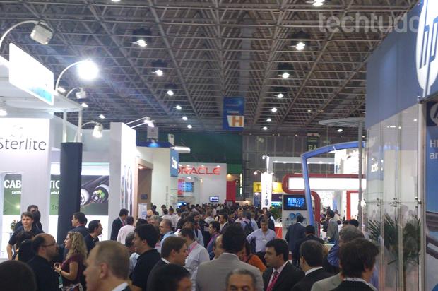 Futurecom é uma das feiras de telecom mais importantes do mundo (Foto: Allan Melo / TechTudo)