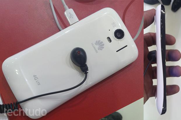Huawei Ascend P1 LTE, parecido com o Galaxy Nexus (Foto: Allan Melo / TechTudo)