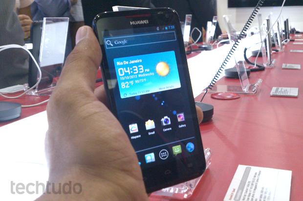 Huawei Ascend D1 Quad, o top de linha da chinesa (Foto: Allan Melo / TechTudo)