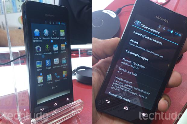 Huawei Y300, com Android 4.1 (Foto: Allan Melo / TechTudo)