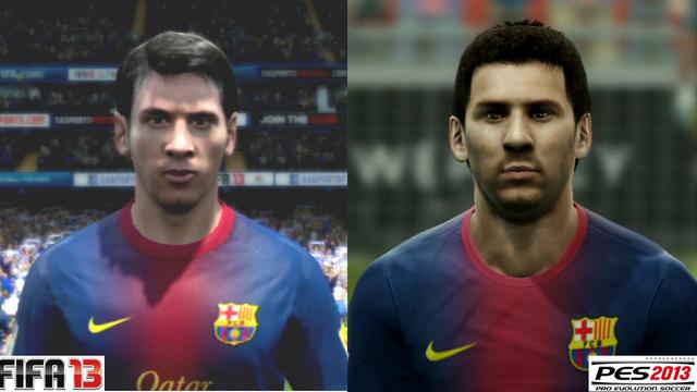 Lionel Messi em FIFA 13 e PES 2013 (Foto: Reprodução / PlayStation Magazine)