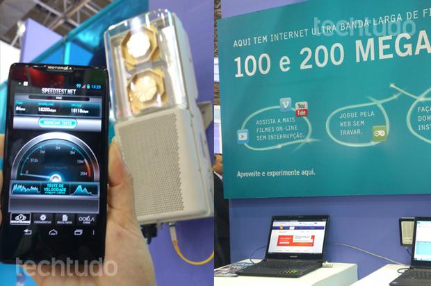 Oi mostrou rede 4G e banda larga de 100 e 200 Megas (Foto: Allan Melo / TechTudo)