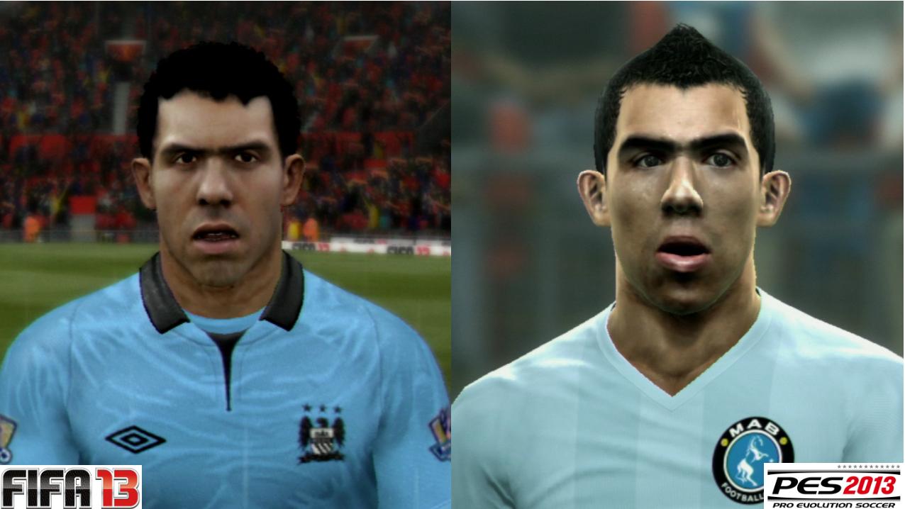Carlitos Tevez em FIFA 13 e PES 2013 (Foto: Reprodução / PlayStation Magazine)
