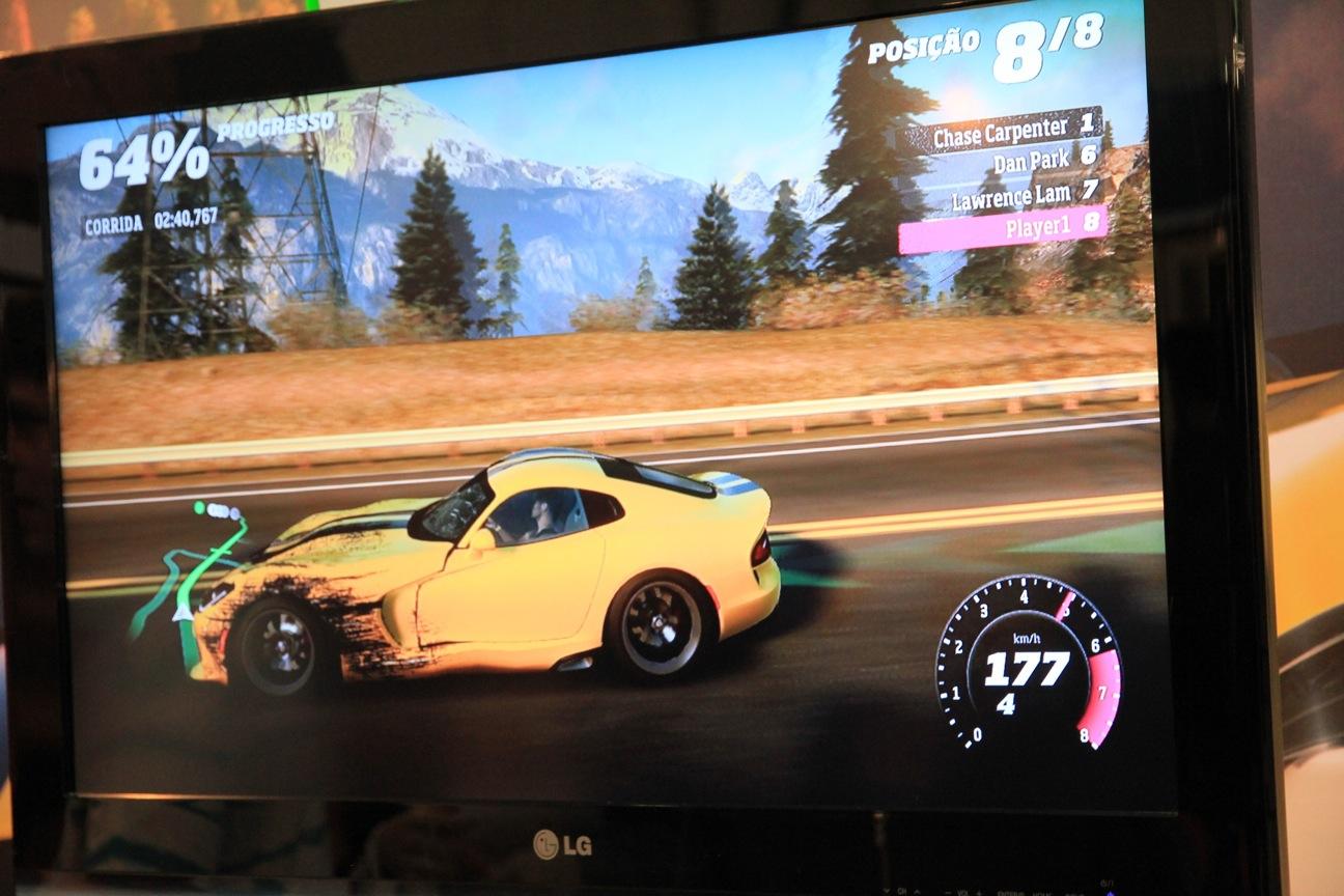 Forza Horizon tem belos gráficos, mas jogabilidade fraca (Foto: Fernanda Brito)