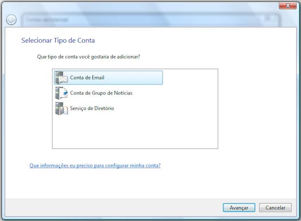 Configurando uma conta de e-mail (Foto: Reprodução/Helito Bijora)