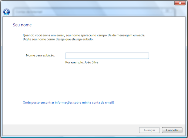 Configurando o Windows Mail (Foto: Reprodução/Helito Bijora)