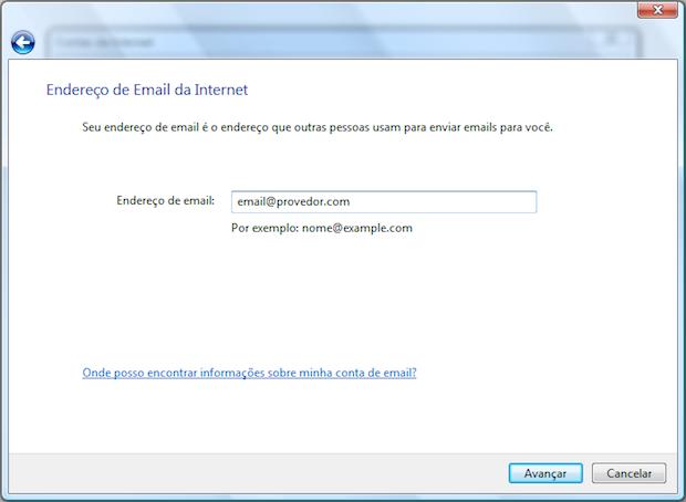 Digite seu endereço de e-mail (Foto: Reprodução/Helito Bijora)