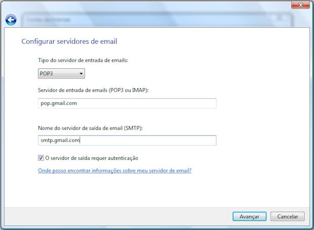 Dados do Gmail (Foto: Reprodução/Helito Bijora)