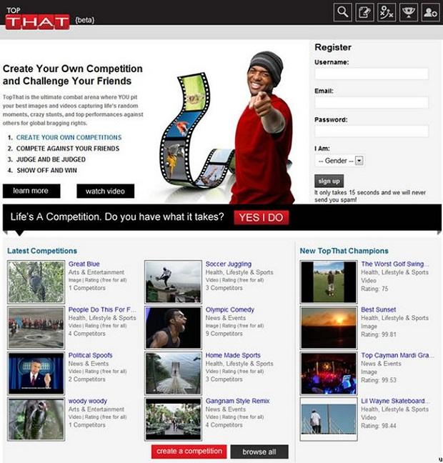 TopThat é uma rede social com conceito muito interessante (Foto: Reprodução)