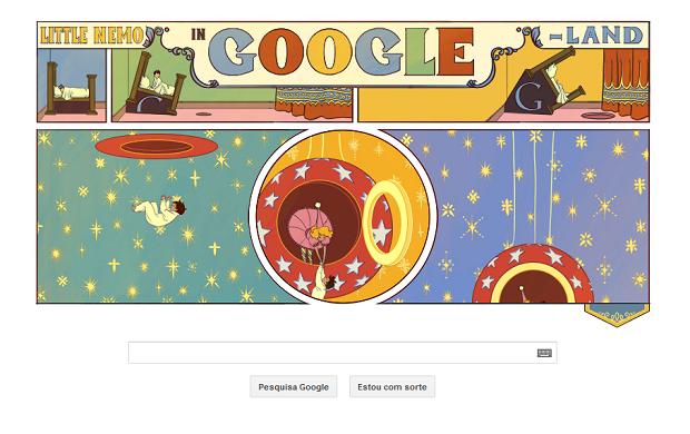 O cartunista e animador Winsor McCay é homenageado pelo Google (Foto: Reprodução/Google)