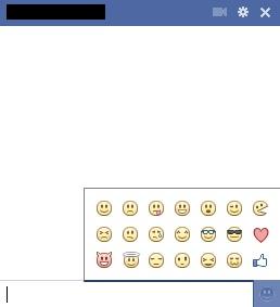 Bate-papo do Facebook com símbolos (Foto: Reprodução)