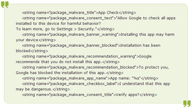 Código fonte mostra que Google está criando anti-vírus (Fonte: Reprodução)