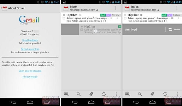 Novo Gmail para Android tem novas funções bem interessantes (Foto: Reprodução)