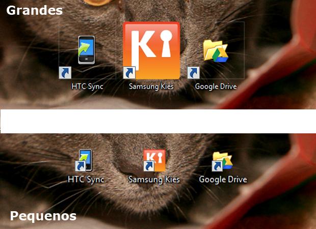 2 icones area trabalho