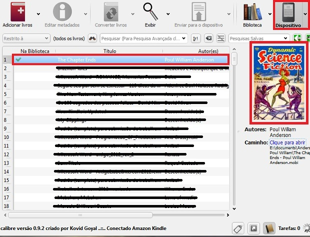 Assim que for finalizado todo o processo, verifique o arquivo na seção Dispositivo (Foto: Reprodução/Júlio Monteiro)