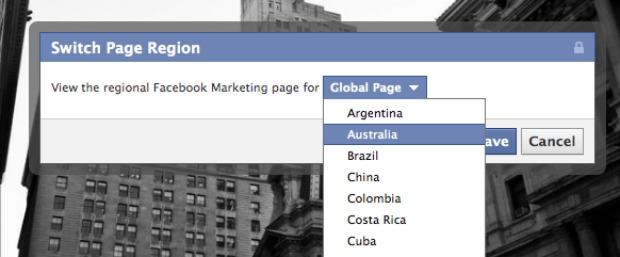 Agora é possível personalizar página para cada região (Foto: Reprodução)