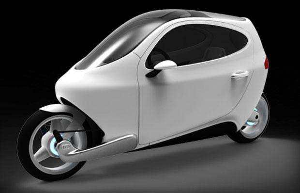 Moto com jeito de carro e carro com jeito de moto, o C-1 deverá ser vendido a partir de 2014 (Foto: Divulgação)