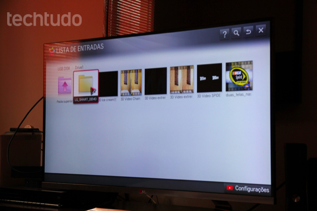 Timemachine para gravação de conteúdo e conexão de HD externo pela USB (Foto: Rodrigo Bastos/TechTudo)