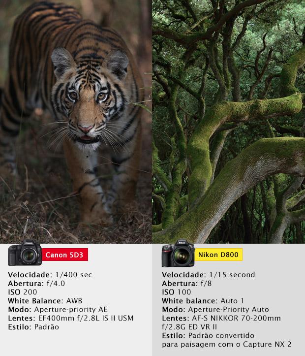 Configurações utilizadas para a captura das imagens analisadas (Foto: Divulgação)