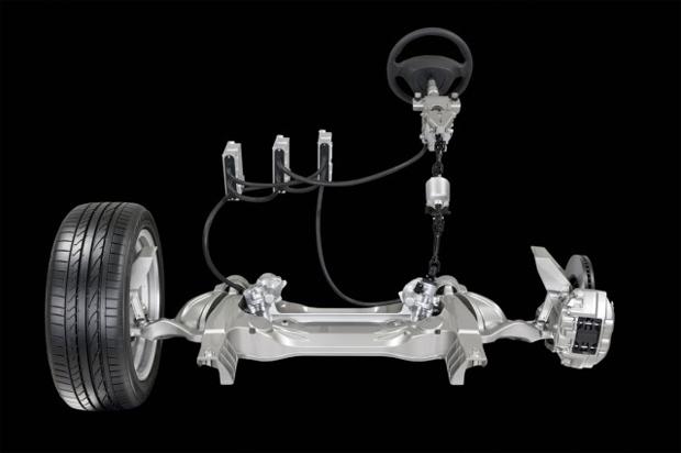 Tecnologia deixa de lado a mecânica tradicional e usa sensores para ligar volantes às rodas (Foto: Reprodução)