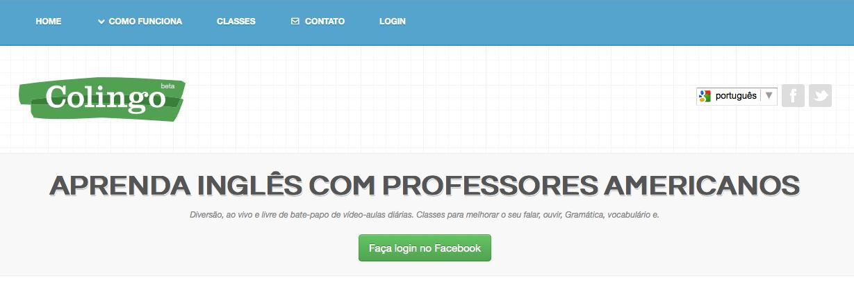 Colingo oferece aulas de inglês pelo Hangout do Google+ (Foto: Reprodução)