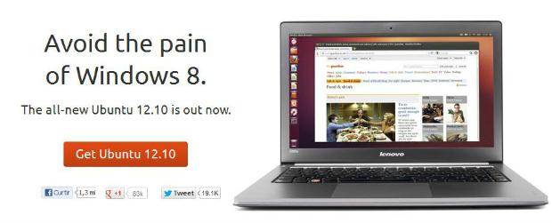Ubuntu deu uma alfinetada no Windows 8 (Foto: Reprodução)