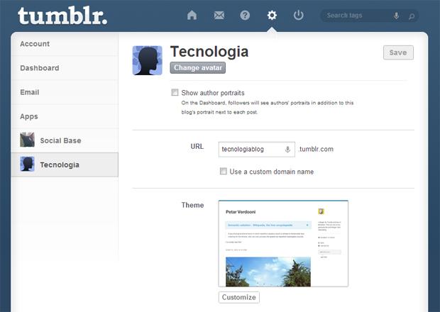 5 configurando blog